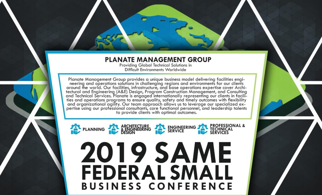 SAME Federal 2019 Planate poster