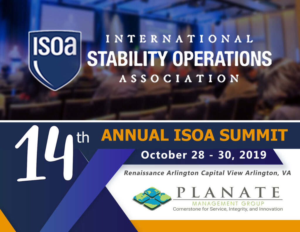 14th Annual ISOA Summit poster