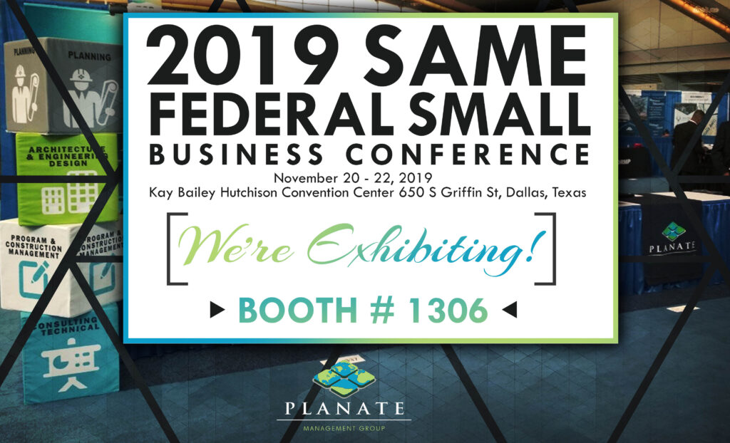 2019 SAME Federal Small Business Conference Booth poster